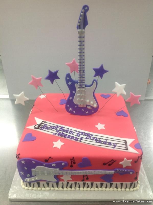 2311, sixth birthday, 6th birthday, rock and roll, music, guitar, star, stars, heart, hearts, red, purple, white