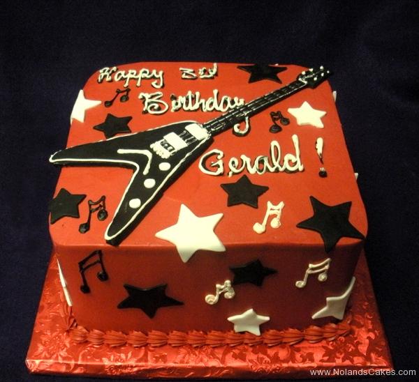 2315, third birthday, 3rd birthday, music, guitar, star, stars, red, black, white