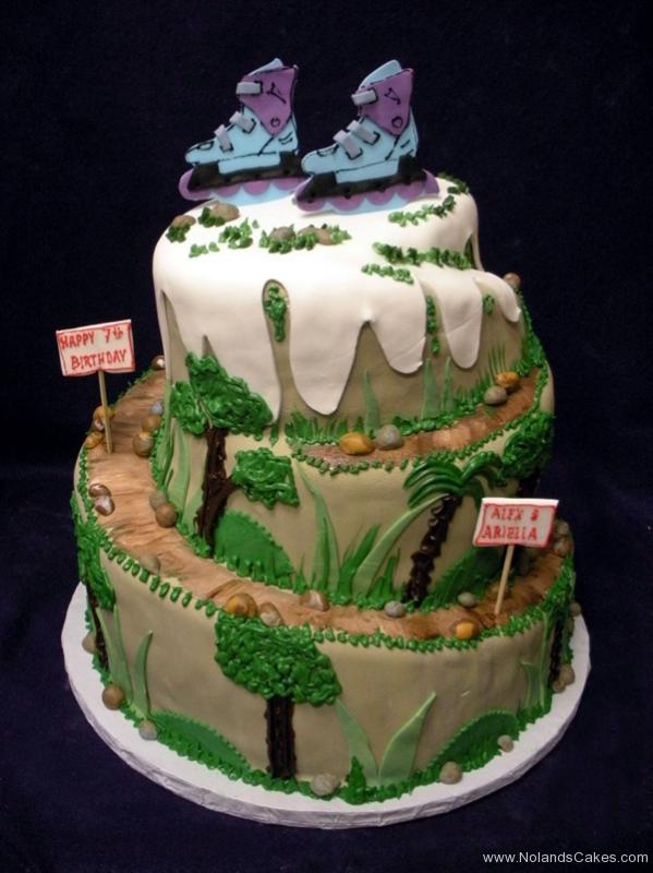2321, seventh birthday, 7th birthday, rollerblading, rollerblade, mountain, tree, trees, snow, green, brown, grass
