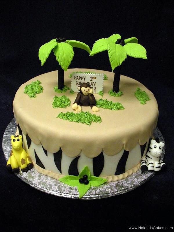 2328, first birthday, 1st birthday, monkey, giraffe, zebra, stripe, jungle, savanna, tree, trees, figure, figures, safari
