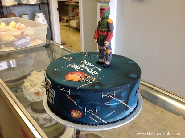 2392, 7th birthday, seventh birthday, star wars, boba fett, figure, space, space ships