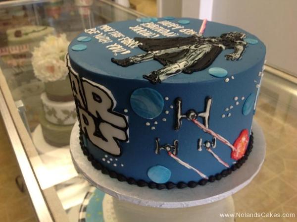 2395, sixth birthday, 6th birthday, star wars, darth vader, blue, space, spaceships, spaceship