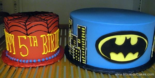 2412, 5th birthday, fifth birthday, marvel, dc, batman, spiderman, gotham, blue, red, yellow