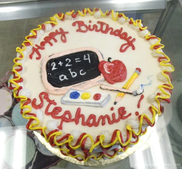 2417, birthday, teacher, chalkboard, apple, school, red, yellow