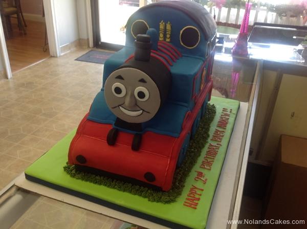 2422, 2nd birthday, second birthday, thomas the tank engine, thomas, train, trains, blue, red, carved