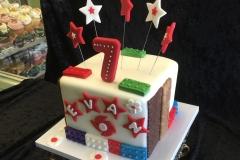 2962, seventh birthday, 7th birthday, star, stars, lego, legos, bricks, white, red, green, blue