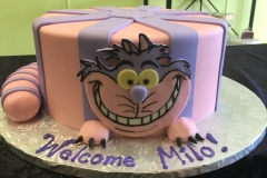 2963, birthday, cheshire cat, alice in wonderland, cat, disney, pink, purple, face