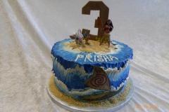 3038, third birthday, 3rd birthday, moana, disney, disney princess, princess, hei hei, pua, shark, ocean, water, sea, waves, sand, beach, blue