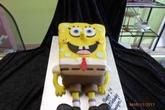 3042, 1st birthday, first birthday, spongebob, spongebob squarepants, cartoon, nick, nickeloden, carved