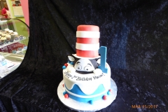 3044, first birthday, 1st birthday, cat in the hat, dr seuss, seuss, figure, figures, red, white, blue