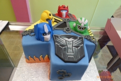 3047, 4th birthday, fourth birthday, transformers, blue, flame, flames, yellow, red, green, edible image, robot, robots, carved