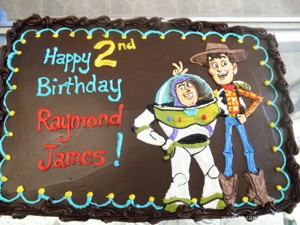 2438, second birthday, 2nd birthday, toy story, woody, buzz, brown, pixar