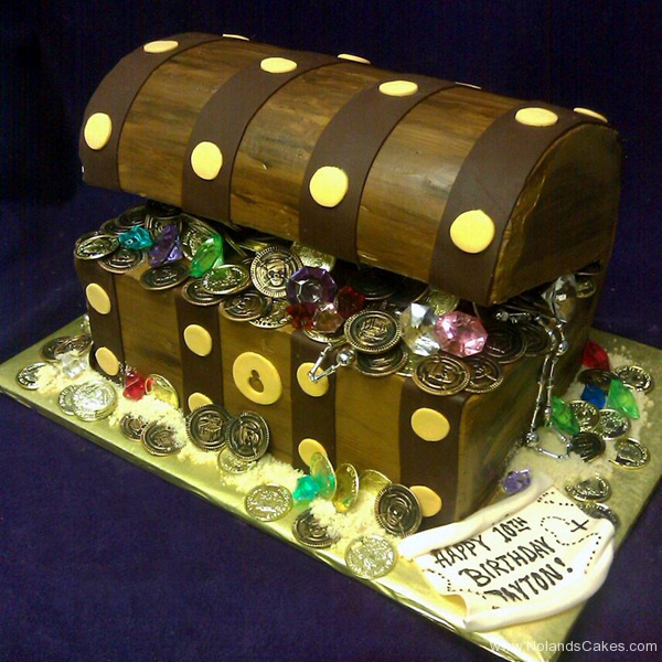 2448, tenth birthday, 10th birthday,  treasure chest, treasure, carved
