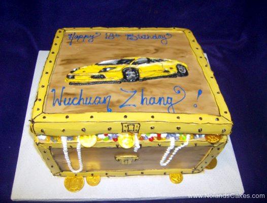 2452, 18th birthday, eighteenth birthday,  treasure chest, treasure, carved, car, lamborghini