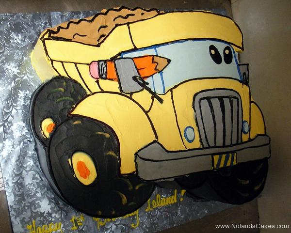 2455, first birthday, 1st birthday, dump truck, construction, carved, yellow, black