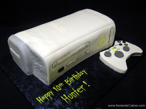 2493, 10th birthday, tenth birthday, xbox, controller, white, gray, grey, carved