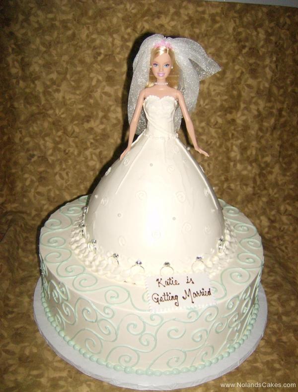 213, bridal, bride, bridal shower, white, barbie, barbie cake, dress, carved