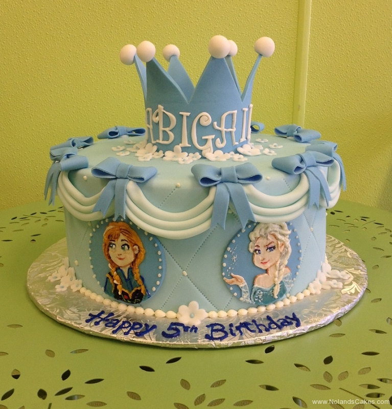 329, 5th birthday, fifth birthday, blue, frozen, anna, elsa, bow, bows, crown, tiara, flower, flowers,