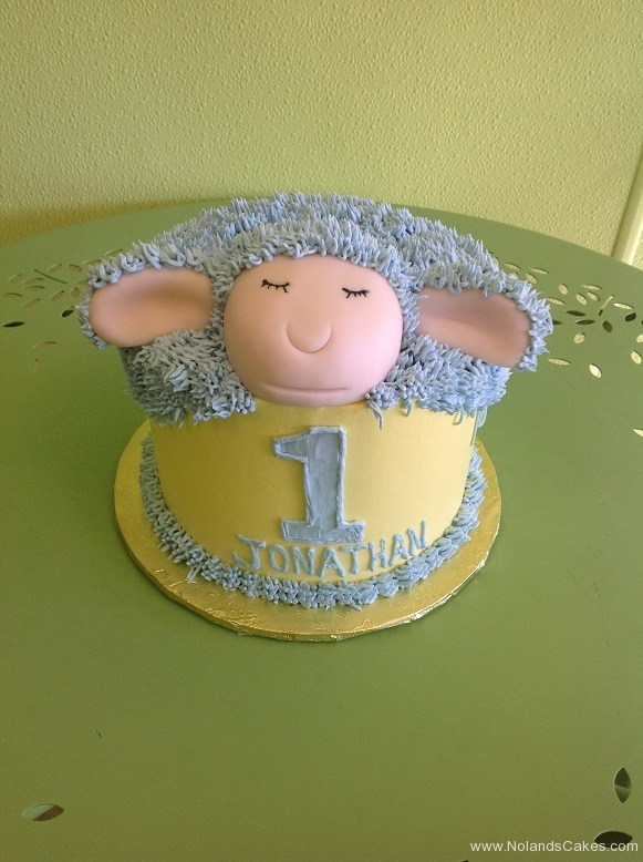 274, birthday, 1st birthday, first birthday, sheep, lamb, yellow, blue