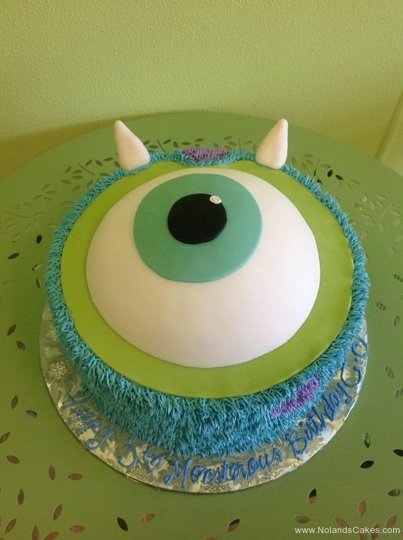 363, 5th birthday, fifth birthday, monster, monsters, monsters inc, disney, pixar, sully, mike, blue, purple, green, eye, horns, horn, eyes, eyeball, eyeballs