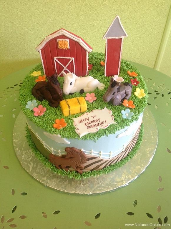 583, 7th birthday, seventh birthday, horse, farm, flower, flowers, grass, pasture, sky, blue, green