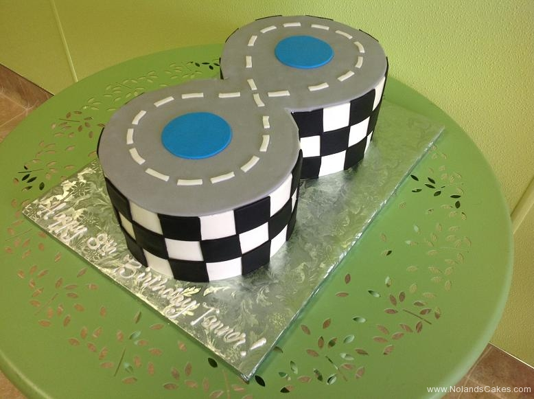 641, carved , race track, 8th birthday, eighth birthday, race road, checkerboard