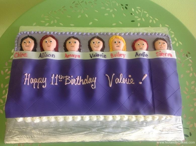 720, 11th birthday, eleventh birthday, sleepover, people, figures, purple, faces