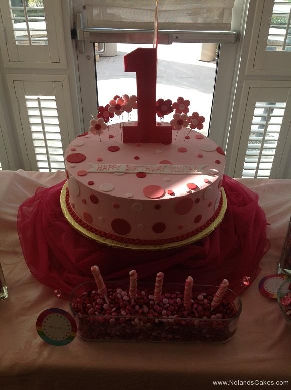 794, first birthday, 1st birthday, dots, polka dots, pink, red, white,