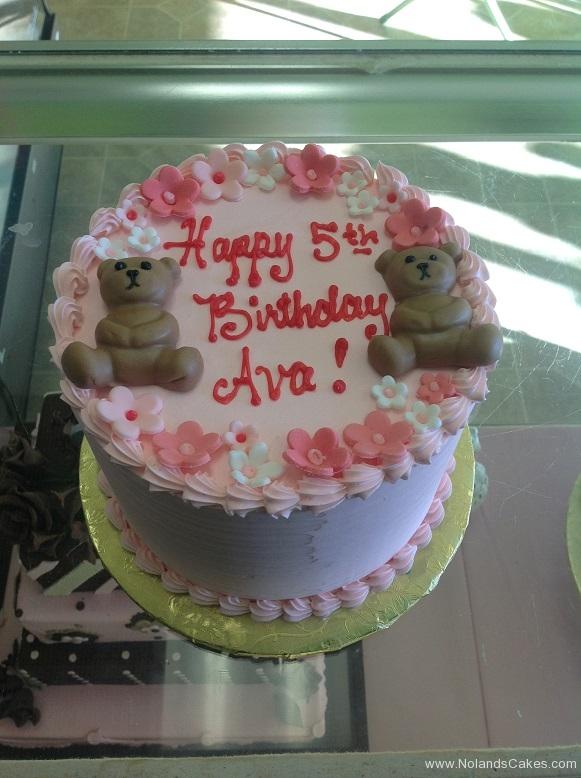 804, fifth birthday, 5th birthday, bear, bears, teddy bear, flower, flowers, pink