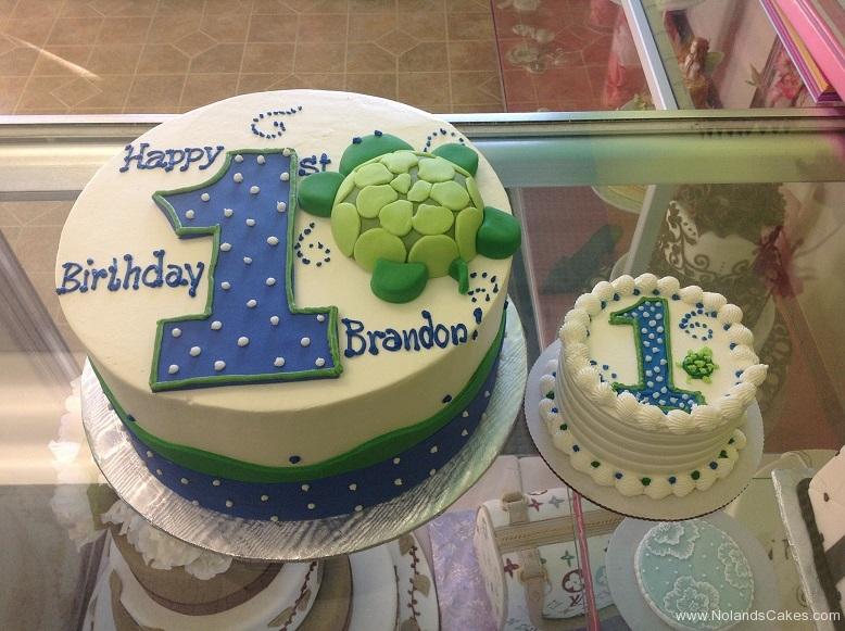 484, first birthday, 1st birthday, birthday, green, turtle, dots, blue, white, smash cake