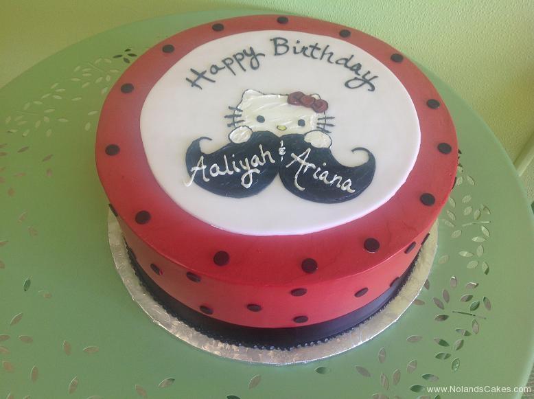 494, birthday, hello kitty, kitty, cat, mustache, red, white, dot, dots, black