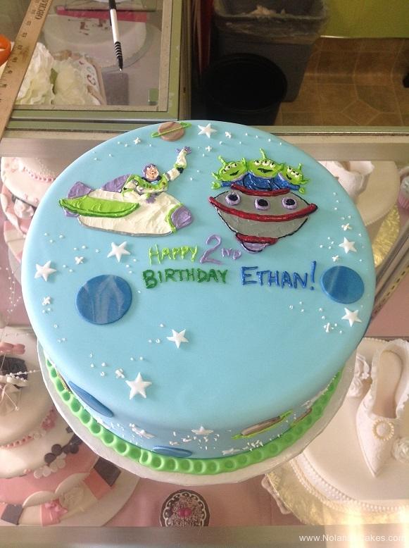 9132nd birthday, second birthday, toy story, buzz, buzz lightyear, aliens, stars, star, ufo, spaceship, blue, green