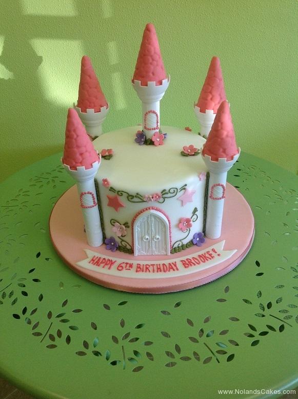 850, sixth birthday, 6th birthday, castle, pink, flower, flowers, princess, pink, purple