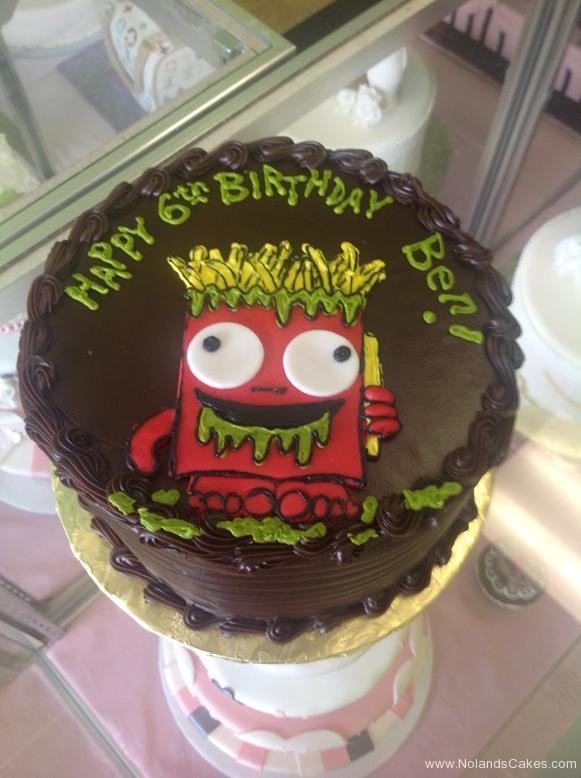 884, 6th birthday, sixth birthday, fries, sludge, slime, red, yellow, green, brown