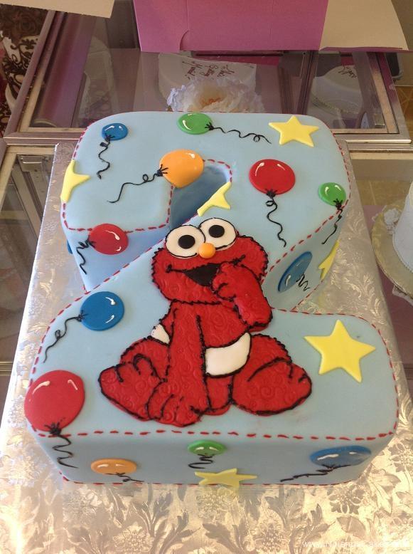 1103, second birthday, 2nd birthday, elmo, 2 balloon, balloons, star, stars, carved, blue, primary