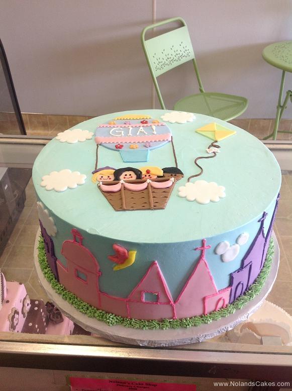 1113, birthday, hot air balloon, sky, balloon, balloons,blue, pink, purple