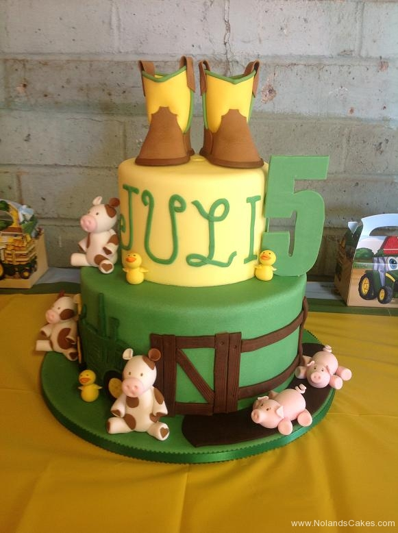 1140, fifth birthday, 5th birthday, cowboy, cowgirl, cow, cows, pig, pigs, western, boots, green, brown, duck, ducks