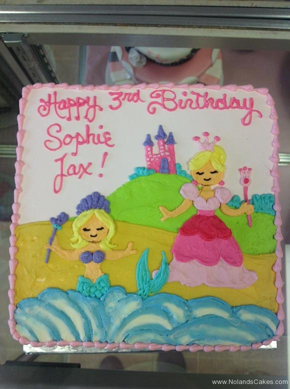 1163, 3rd birthday, third birthday, princess, mermaid, castle, pink, blue, purple