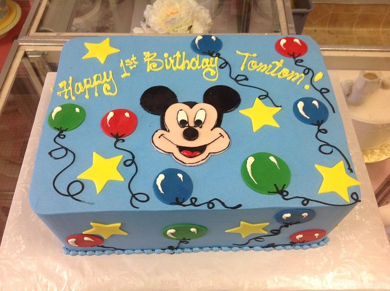 1172, first birthday, 1st birthday, disney, mickey mouse, mickey, balloons, balloon, star, stars, blue, primary, red, green