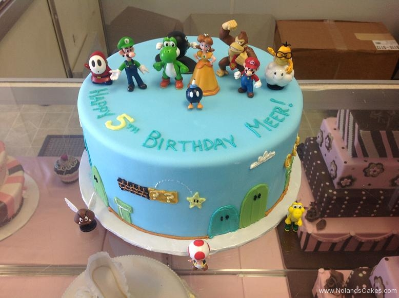 1237, 5th birthday, fifth birthday, mario, super mario brothers, luigi, donkey kong, blue, star, stars