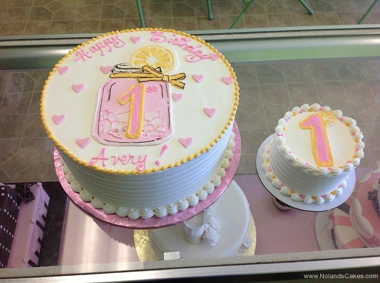 992, first birthday, 1st birthday, pink lemonade, lemon, pink, white, yellow, smash cake