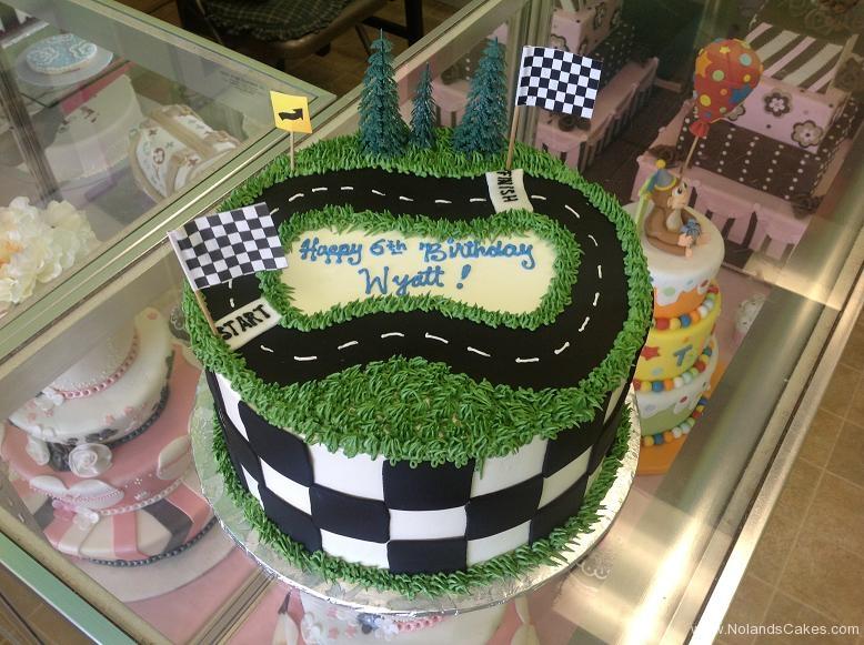 1280, 6th birthday, sixth birthday, race track, flag, tree, trees, grass, green, black, road, white