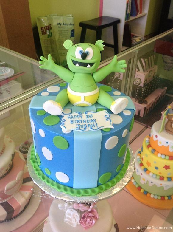 1288, first birthday, 1st birthday, monster, bear, green, underwear, blue, yellow, dots, dot