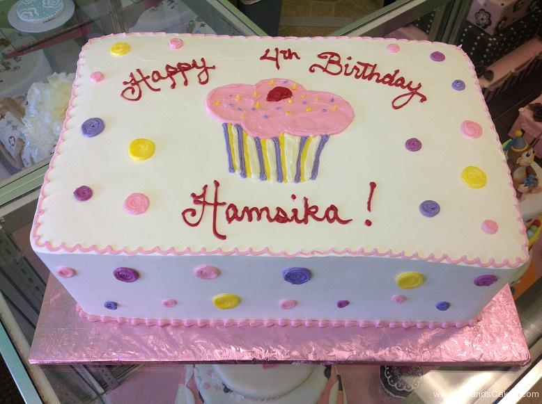 1342, fourth birthday, 4th birthday, cupcake, dot, dots, pastel, white, pink, purple