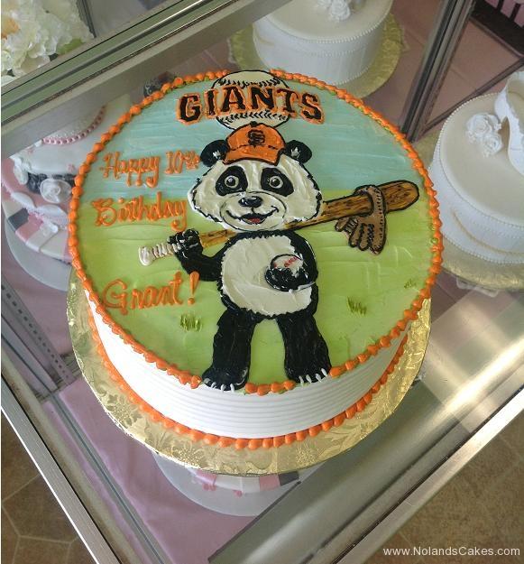 1000, 10th birthday, tenth birthday, giants, sf giants, san francisco, panda, baseball, orange, black, white, green, blue