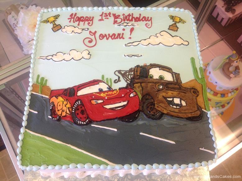 1380, first birthday, 1st birthday, cars, disney, lighting mcqueen, mater, road, street, race, red, black