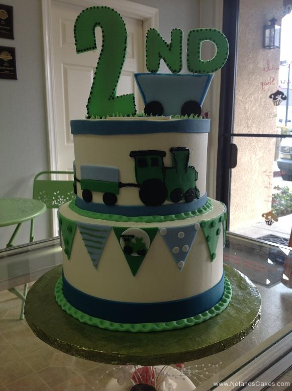 1384, second birthday, 2nd birthday, train, green, blue, banner, tiered