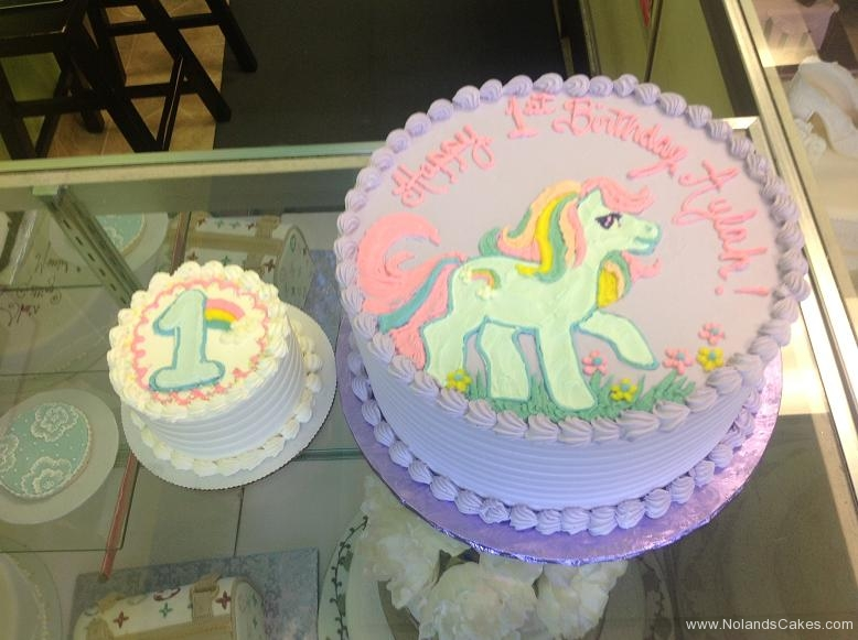 1427, first birthday, 1st birthday, pony, my little poly, rainbow, purple, blue, pink, pastel