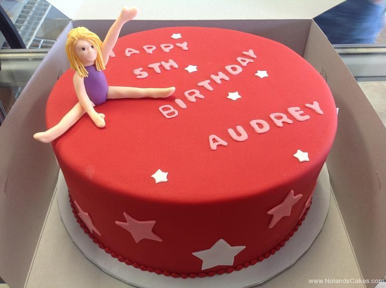 1458, fifth birthday, 5th birthday, gymnastics, red, star, stars