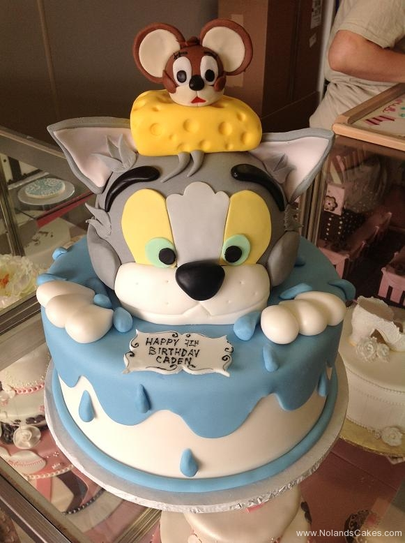 1518, 2nd birthday, second birthday, tom and jerry, cat, mouse, cheese, water, glue, gray, grey, yellow, brown, black